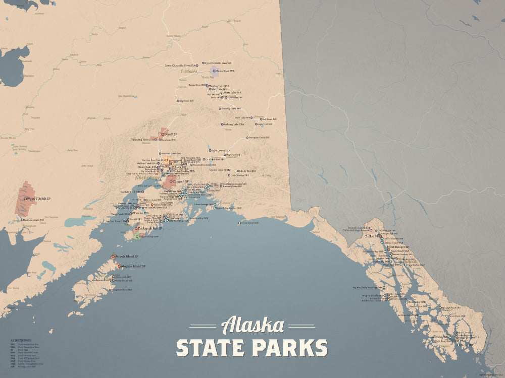 Montana State Parks & Federal Lands Map 24x36 Poster Best Maps Ever