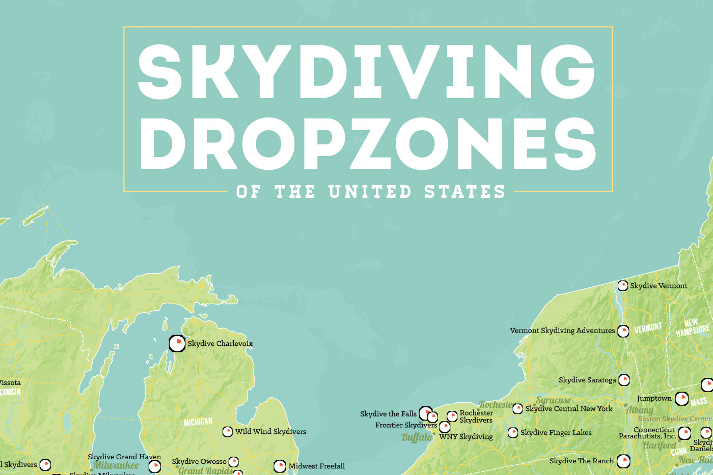 US Skydiving Dropzones Map 24x36 Poster on distressed usa map, apple usa map, desert usa map, white usa map, colorless usa map, hand drawn usa map, color usa map, navy usa map, camouflage usa map, sapphire usa map, wooden usa map, phoenix usa map, whatever usa map, oceans usa map, black usa map, framed usa map, rainbow usa map, rust usa map, burgundy usa map, small usa map,