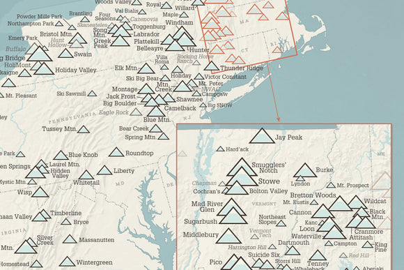 Ski Resort Poster Maps Best Maps Ever - Us ski resorts map