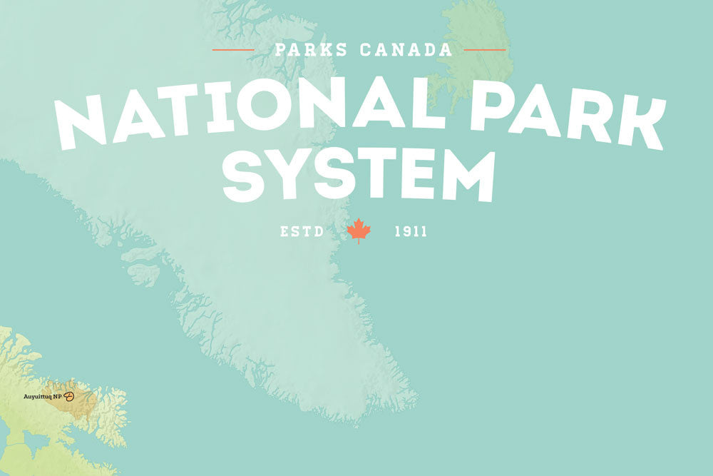 Canada National Park System Map 24x36 Poster