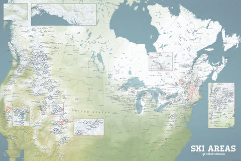 Products X - Us ski resorts map