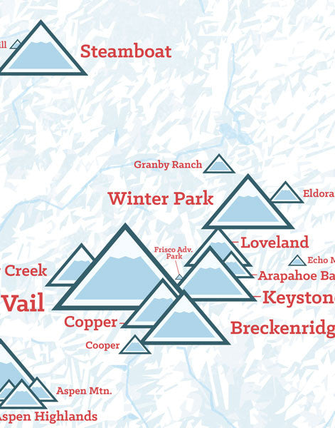 Colorado Ski Resorts Map Poster - Best Maps Ever