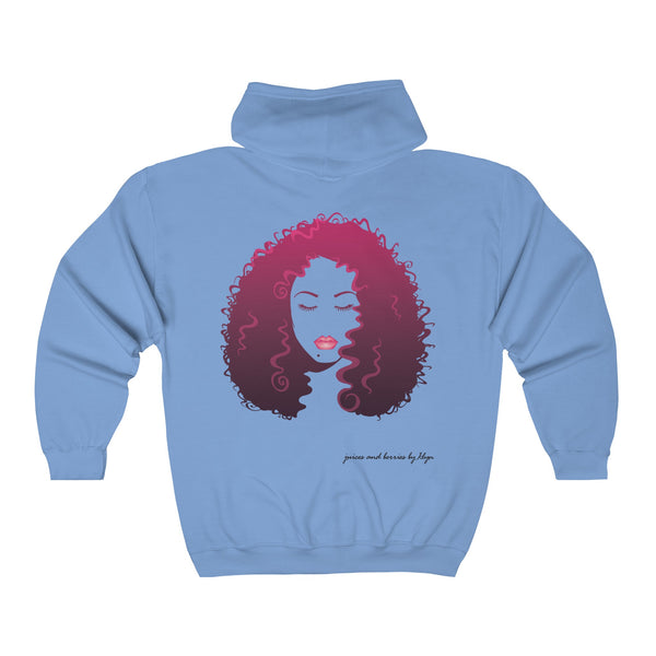 Long Luscious Hair (Unisex Full Zip Hooded Sweatshirt)