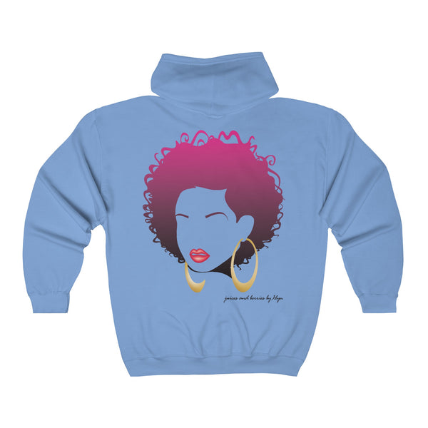 Sweet & Short (Unisex Full Zip Hooded Sweatshirt)