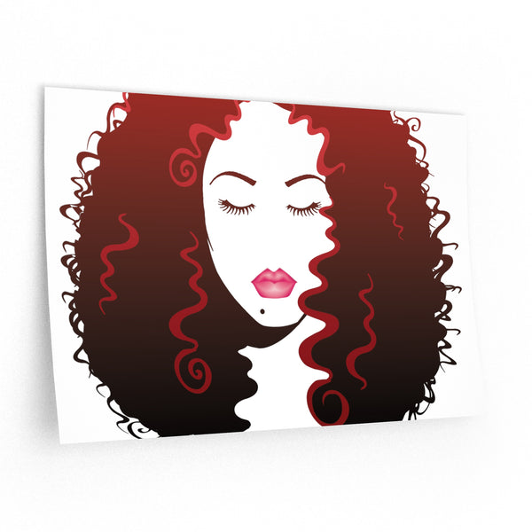Long Luscious Hair (Wall Decals)