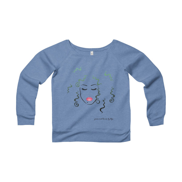 Wild & Free (Women's Sponge Fleece Wide Neck Sweatshirt)