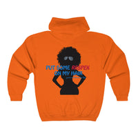 """Respek"" My Hair (Unisex Full Zip Hooded Sweatshirt)"