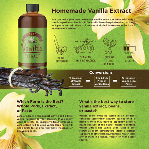 Vanilla Bean Paste for Baking and Cooking - Gourmet Madagascar Bourbon with Real Vanilla Seeds