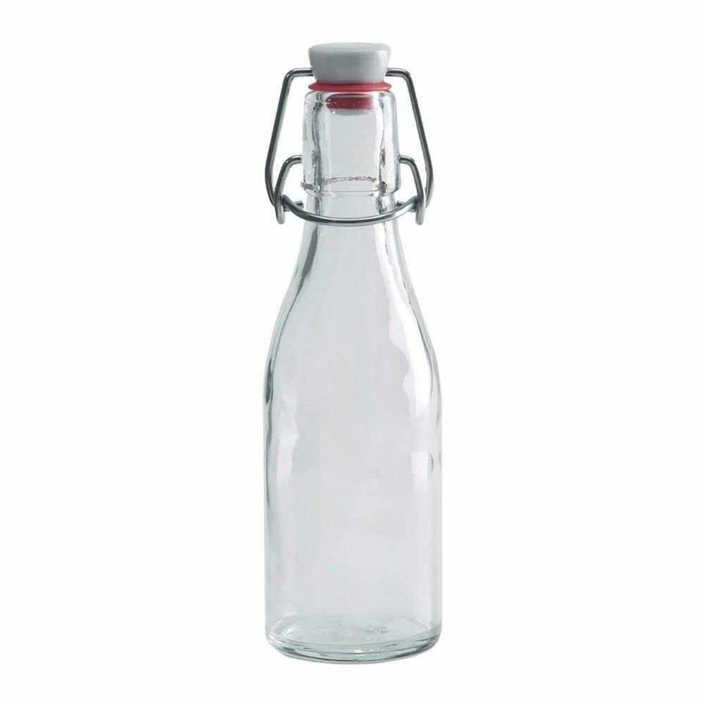 8.5 oz Swing Top Glass Bottle with Stainless Steel Wire Air Tight Leakproof Seal for Vanilla Extract - Vanilla Bean Kings