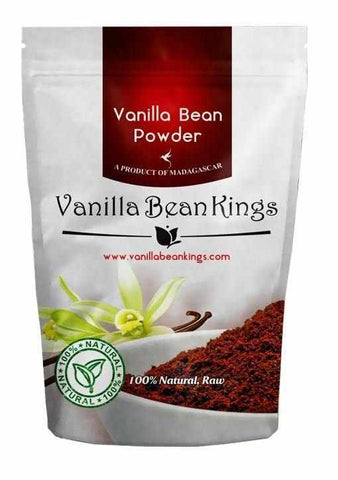 Natural Vanilla Bean Powder, 4.41 Oz, Raw Ground Vanilla Beans, Unsweeted, Non GMO, Gluten-Free - Freshly Ground Before Packaging