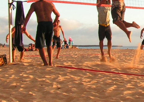Jumping Exercises in the Sand - Preparation for Beach Volleyball Season