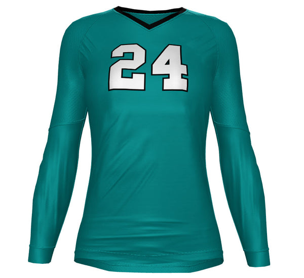CUSTOM SUBLIMATED LONG SLEEVE JERSEY - nahdeh