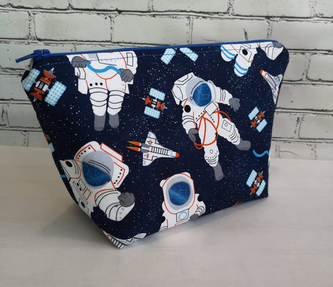 Astronaut Makeup Bag, Space Cosmetic Pouch, Galaxy Themed Bag