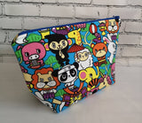 Kawaii Animal Makeup Bag, Japanese Cosmetic Pouch - The Curious Needle