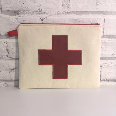 First Aid Medical Zip Pouch, Medical Supplies Bag - The Curious Needle