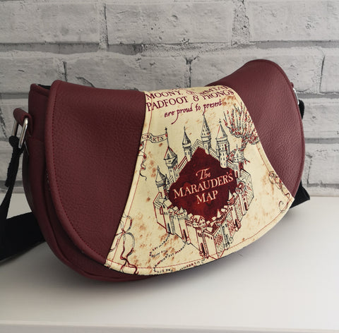 Harry Potter Cross Body Purse, Marauders Map Harry Potter Handbag - The Curious Needle