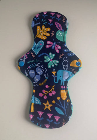 "11"" Heavy Cloth Sanitary Pad, Reusable Sanitary Towel, Eco Periods - The Curious Needle"