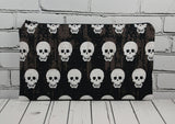 Black & White Skull Pencil Case - The Curious Needle