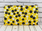 Yellow & Black Polka Dot Pencil Case