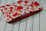 Blood Spatter Pencil Case, Pencil Bag - The Curious Needle