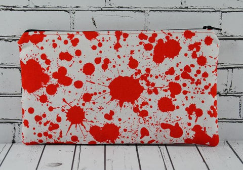 Blood Spatter Pencil Case, Pencil Bag