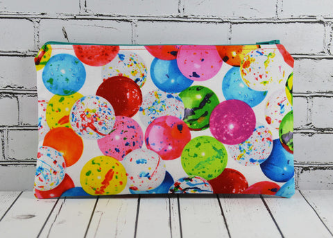 Bubblegum Pencil Case, Kawaii Print Pencil Pouch