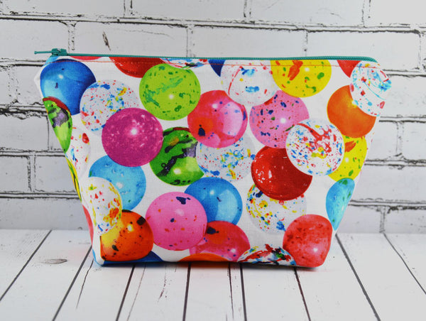 Bubblegum Makeup Bag, Kawaii Large Zip Pouch