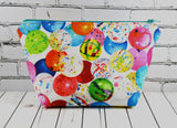 Bubblegum Makeup Bag, Kawaii Large Zip Pouch - The Curious Needle