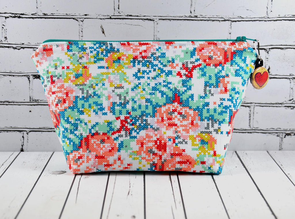 Cross Stitch Makeup Bag
