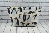Penguins Makeup Bag, Penguin Cosmetic Zip Pouch