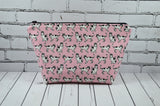 Pink Cats Makeup Bag, Large Cosmetic Bag - The Curious Needle