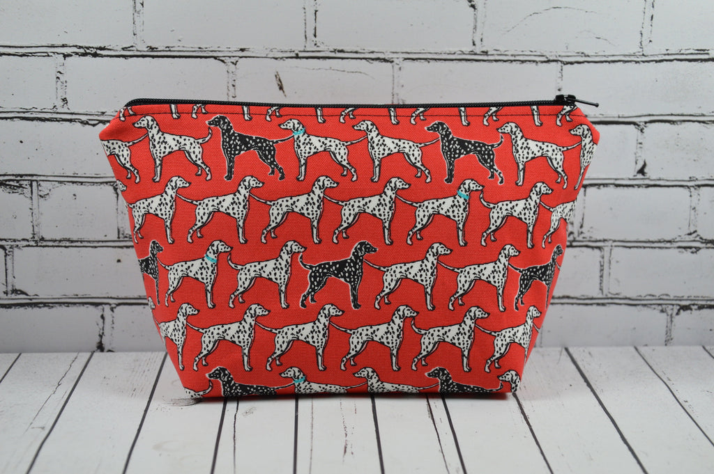 Dalmatian Make Up Bag, Dog Cosmetic Pouch