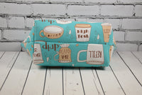 Coffee Addict Makeup Bag, Large Zip Pouch.