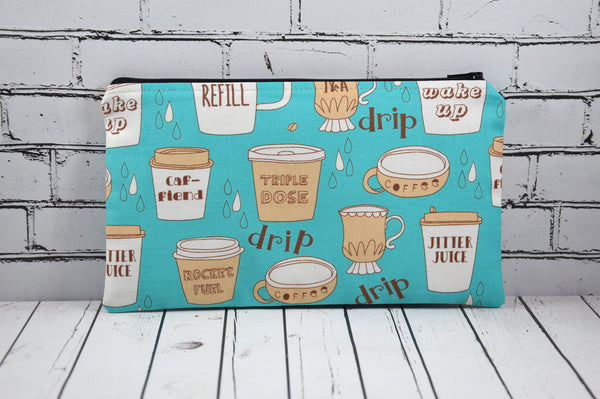 Coffee Lover, Caffeine Addict Pencil Case Bag