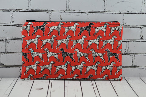 Dalmatian Pencil Case, Small Dog Makeup Bag - The Curious Needle