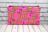 Metallic Gold and Pink Mascara Pencil Case, Makeup Case