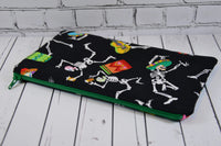 Skeleton Pencil Case, Day of the Dead Pencil Pouch