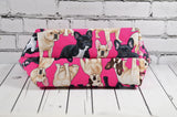French Bulldog make up bag. - The Curious Needle