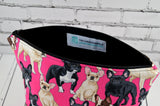French Bulldog make up bag.