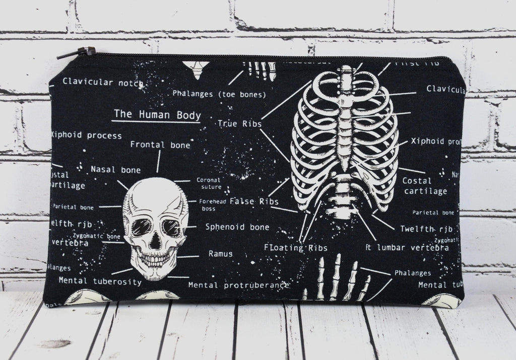 Glow in the Dark Skeleton Pencil Case