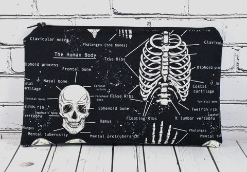 Glow in the Dark Skeleton Pencil Case - The Curious Needle
