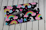 Glitter Unicorn Pencil Case, Rainbow Zip Pouch. - The Curious Needle