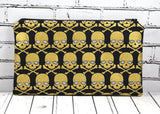 Black & Gold Skull Pencil Case - The Curious Needle