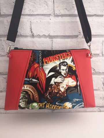 Movie Monsters Crossbody Bag, Horror Handbag - The Curious Needle