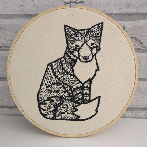Fox Embroidery Hoop Art, Woodland Nursey Art - The Curious Needle