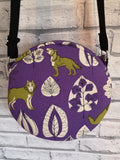 Purple Wolf Cross Body Bag, Adjustable Strap Handbag - The Curious Needle