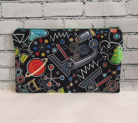 Science Pencil Case, Geek zip pouch