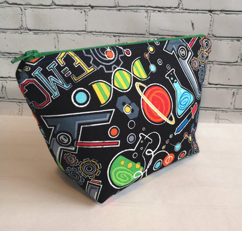 Science Cosmetic Bag, Geek Make Up Bag - The Curious Needle