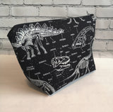 Glow in the Dark Dinosaurs Make Up Bag, Dinosaur Cosmetic Pouch