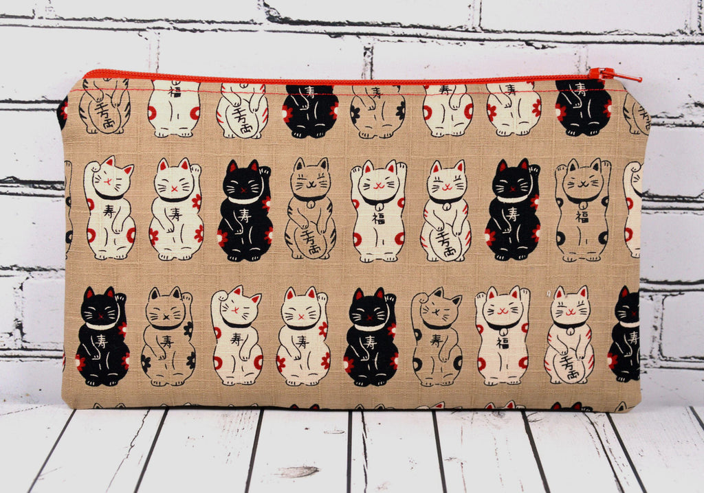 Lucky Cat, Maneki Neko Pencil Case